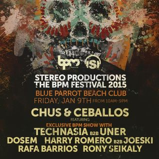 Technasia b2b UNER - Live @ The BPM Festival 2015, Stereo Productions Showcase (Blue Parrot, Mexico)