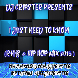 Dj Cripster Presents I Just Need To Know (R'n'B & Hip Hop Mix 2016)