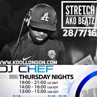 DJ CHEF WITH GUEST DJ STRETCH-KOOL LONDON 27-08-16