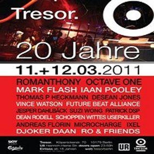 Andreas Florin @ Tresor. 20 Jahre - Tresor Berlin (+4Bar) - 11.03.2011