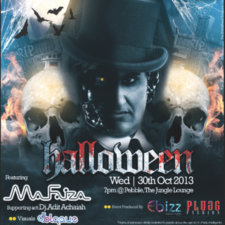 MA FAIZA LIVE @ PEBBLES HALLOWEEN October 2013