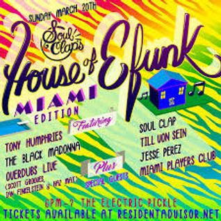 Tony Humphries live @ House of EFunk ,Miami 20 /03 /2016