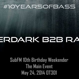 Afterdark b2b Raggs live at #10YearsOfBass - OT301, Amsterdam - 24th May 2014