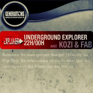 7/04/2013 Underground Explorer Radioshow Part 2 Every sunday to 10pm/midnight With Dj Fab