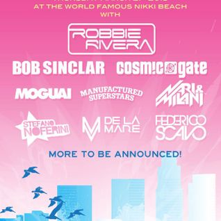 Bob Sinclar - Live @ Juicy Beach Pool Party, MMW 2013 (Nikki Beach, Miami) - 21.03.2013