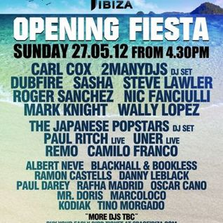Dubfire - Live @ Space Opening Fiesta (Ibiza) - 27.05.2012