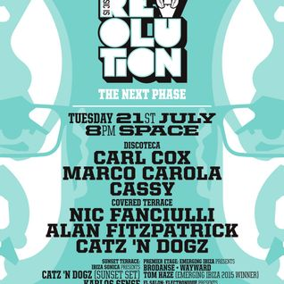 Catz 'N Dogz - live at Music is Revolution, Sunset Terrace, Space, Ibiza - 21-Jul-2015