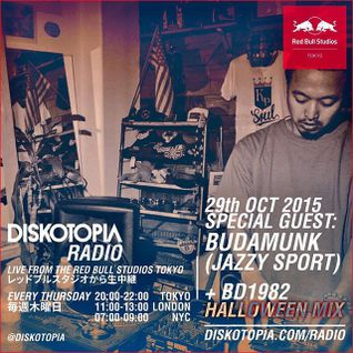 Diskotopia Radio 29th October 2015: Budamonk live in studio + BD1982 Halloween mix
