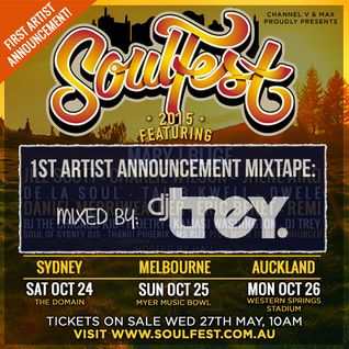 1st Artist Announcement Mixtape: Soulfest 2015 - Mixed By Dj Trey