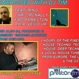 Energised With DJ Tim - 103.2 Preston fm