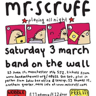 Mr Scruff live DJ mix from Band On The Wall, Manchester, Saturday March 3rd 2012