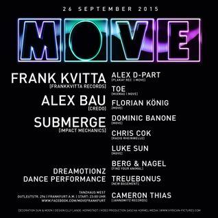 Dominic Banone @ MOVE 26.09.2015 (Tanzhaus West, Frankfurt)