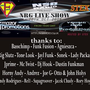 NRG Live Show - Dustin Funkman and Stex - 20 Oct 2016