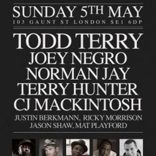 Todd Terry @ Hard Times presents Legends,Ministry Of Sound (London) (05-05-2013)