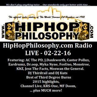 HipHopPhilosophy.com Radio - LIVE - 02-22-16