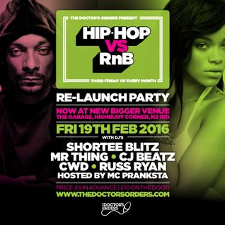 Hip-Hop vs RnB - Re-Launch Party promo Mix by @DJCWD