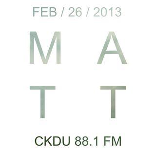 CKDU - February 26 2013