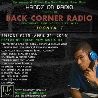 BACK CORNER RADIO: Episode #215 (April 21st 2016)