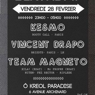 Vincent DRAPO live djset LH Original Birthday, Le Havre, 2014 02 28 (50 min snippet)