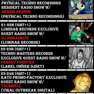 2016 06 28 20-21h (gmt+1) Physical Techno Recordings Residents Radio Guest Show w/Dennis Hewing