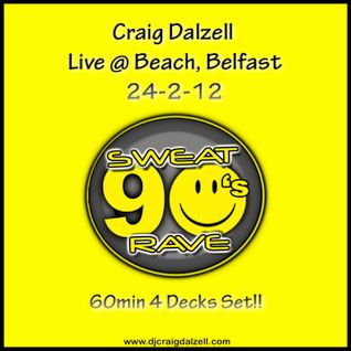 Craig Dalzell Live @ Beach, Belfast 24.2.12 (Sweat 90s Rave) 60mins 4 Decks set