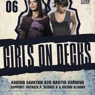 Karina Saakyan b2b Nastia Uvarova live set at Friday bar Rostov [12.06.2015]