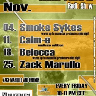 Zack Marullo @ Audio Control Radio Show (2011.11.25.)