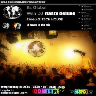 Dj Nasty deluxe - It's global - Confetti Digital - UK - London - 26. 05. 2015