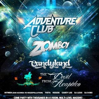 Hitmen Opening For Adventure Club, Zomboy, Candyland @ The Rave, MKE WI (Stellar Spark 11 (12/31/13)