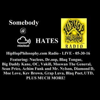 HipHopPhilosophy.com Radio - LIVE - 05-30-16