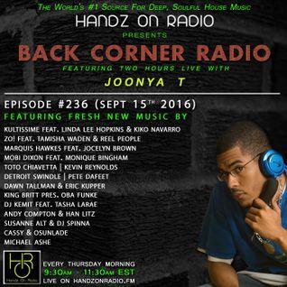 BACK CORNER RADIO: Episode #236 (Sept 15th 2016)