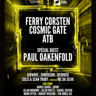 Cosmic Gate - Live @ Luminosity & Flashover Recordings ADE special (Amsterdam, Netherlands) - 20.10.