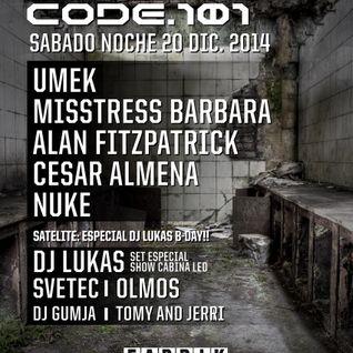 Lukas 3decks+EFX At CODE 101 Fabrik Madrid 21 12 2014 SPN