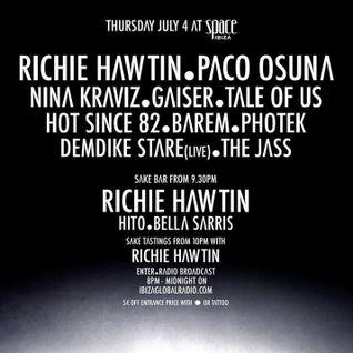 Richie Hawtin - Live at ENTER.Sake, Week 01, Space Ibiza (04-07-2013)
