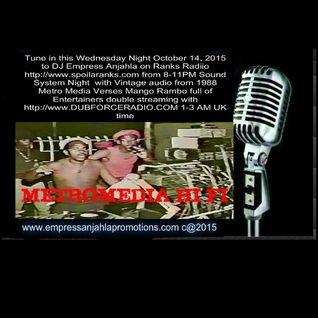 DJ EMPRESS ANJAHLA METERO MEDIA VS RAMBOMANGO 1988 WHITEHALL MASSIVE PETER METRO RED DRAGON MASSIVE