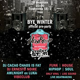cacao chaos is FAT - New Blood Pre-Party Live Mix (first hour)