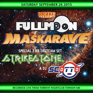 Dj Scotto & Strikestone live from Full Moon Maskarave Sept 2015