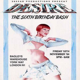DJ Fabio Desire 'The Sixth Birthday Bash' 18th November 1994