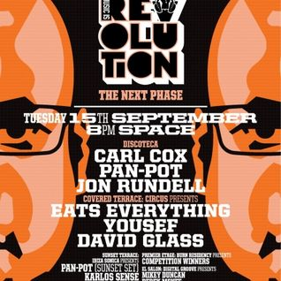 PAN POT - LIVE FROM MUSIC IS REVOLUTION AT CARL COX SPACE IBIZA - 15TH SEPTEMBER 2015 - IBIZA SONICA