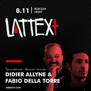 08.11.2013 LATTEX+ pres. BOSCONI NIGHT
