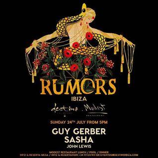 Sasha - Live at RUMORS, Destino Ibiza (24-07-2016)
