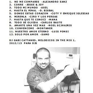BALADAS EN ESPAÑOL, LENTOS MELODICOS 2012-2013 VOL. 1  -DJ GABI CATTANEO