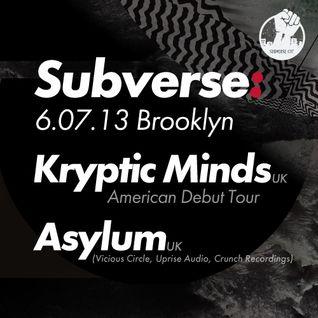 I.N.I presents SBVRS03 - Kryptic Minds and Asylum promo mix