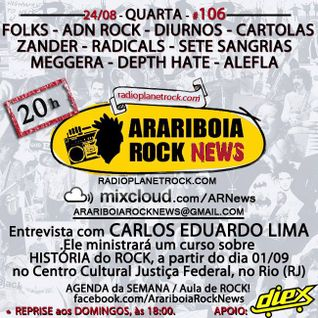 # 106 Arariboia Rock News - 24.08.2016 - Especial Carlos Eduardo Lima - Historiador e Jornalista