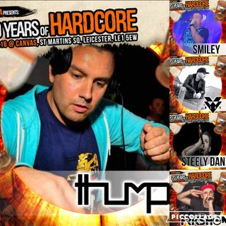 Thumpa & MC Whizzkid @ 20 Years 08.04.16 (7hr solo set) - Part 3 - 2000-2005 UK Hardcore