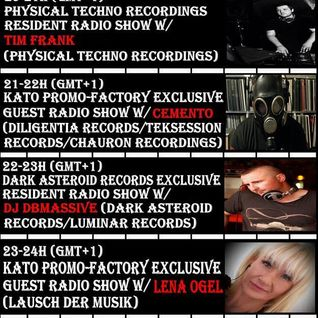 20160802 23-24h (gmt+1) Kato PrOmO-Factory Exclusive Guest Radio Show w/Lena Ogel (Lausch Der Musik)