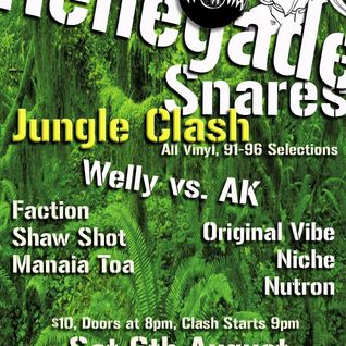 Renegade Snares (Auckland Vs Wellington) 6.8.2016