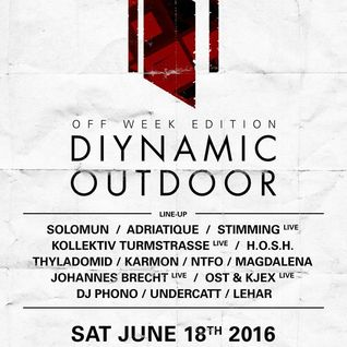 Solomun - Live @ Diynamic Outdoor, Off Week Edition Parc Del Forum (Barcelona, ES) - 18.06.2016