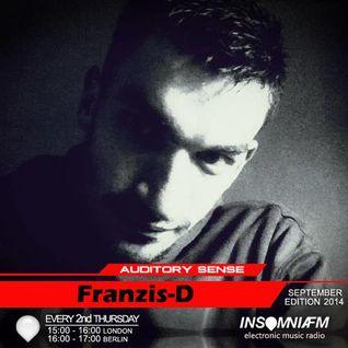 Franzis-D - Auditory Sense 064 @ InsomniaFm - Sep 11, 2014