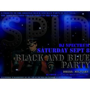 DJ Spectrum presents The Black and Blue Party at SPIN, Hagerstown, MD 20120908
